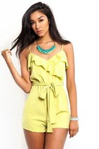 Off to The Races Ruffle Romper