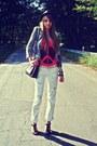 Black-pimkie-hat-heather-gray-h-m-jacket-tawny-vintage-bag-orange-diy-top