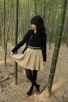 Zara skirt - Jeffrey Campbell shoes - American Apparel tights - agnes b cardigan