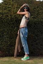 Zara jeans - Virginie Castaway jacket - Louis Vuitton sunglasses - American Appa