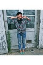 sky blue Pimkie jeans - aquamarine Pimkie wedges
