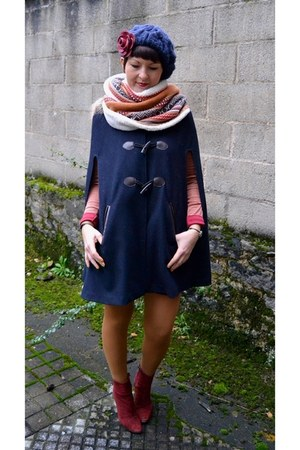 navy La Redoute cape
