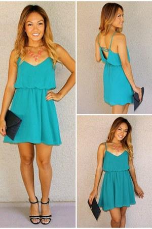 v-back chiffon SBH dress