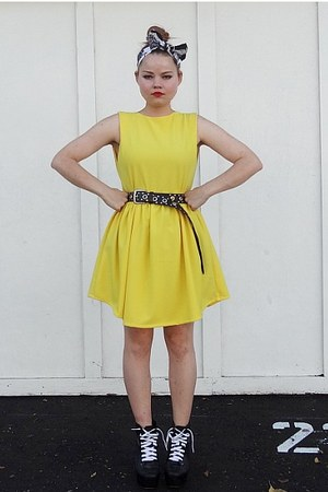 yellow Self Made dress