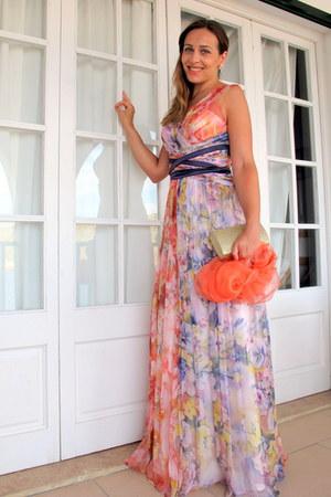 coral bdba dress