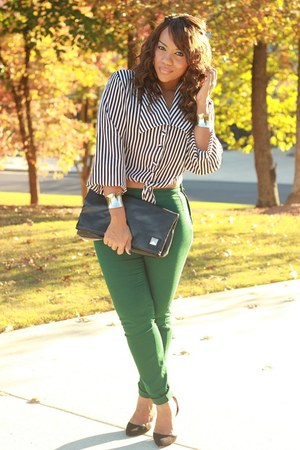 thrifted blouse - Zara heels - H&M pants