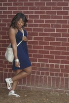dress Forever21 dress - leather Marshalls bag - sandals Shoeland sandals
