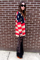 flag some velvet vintage sweater