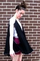 black beaded some velvet vintage cape