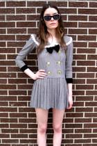 black checkered some velvet vintage dress