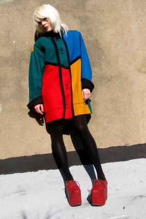 mondrian some velvet vintage coat