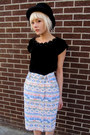 Aztec-some-velvet-vintage-skirt