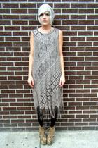 crochet some velvet vintage dress