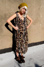 Animal-print-some-velvet-vintage-dress