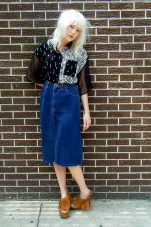 sheer some velvet vintage shirt