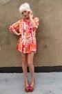 Light-orange-tie-dye-some-velvet-vintage-dress