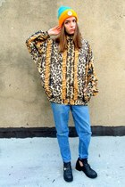 bronze leopard some velvet vintage jacket