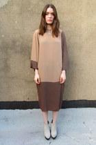 light brown batwing some velvet vintage dress