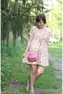 Eggshell-thrifted-dress-bubble-gum-thrifted-purse