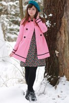 bubble gum kohls jacket - black H&M boots - black Forever21 dress