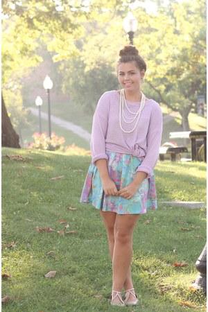 sky blue Us trendy dress - light purple LuLus sweater