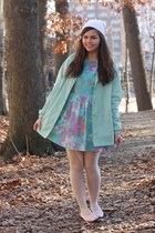 aquamarine thrifted jacket - sky blue Us trendy dress