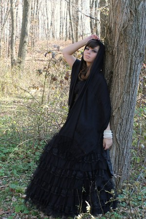 black deb dress