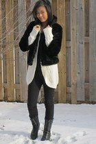 H&M coat - Gap sweater - Forever 21 boots