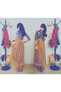 Gray-shirt-yellow-riots-barbie-skirt-brown-riotous-shoes-black-riotous-sca