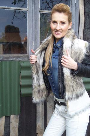 Zara jacket - Levis jeans - H&M shirt - Zara vest