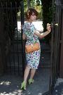 Purple-vintage-dress-green-bdg-shoes-brown-vintage-purse-beige-vintage-ear