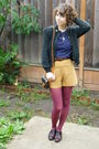 Vintage-cardigan-vintage-top-vintage-shorts-vintage-bag-vintage-shoes-