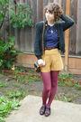 Vintage-cardigan-vintage-top-vintage-shorts-vintage-bag-vintage-shoes-