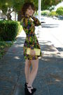 Vintage-dress-black-asos-shoes-coach-purse