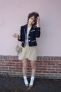 Vintage-blazer-american-apparel-shirt-american-apparel-skirt-american-appa