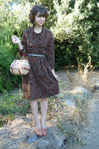 vintage dress - vintage - H&amp;M belt - vintage shoes