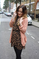brown Love dress - salmon new look blazer