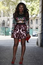 Marco Bolagna skirt - Christian Louboutin shoes - Alexander McQueen bag
