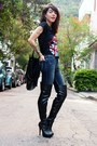 Black-lovely-shoes-boots-blue-fyi-jeans-black-miallegra-shirt