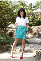 turquoise blue Maria Bonita Extra skirt - red Le Chic heels