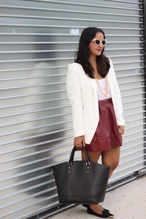 Forever 21 skirt - H&M blazer - Wet Seal necklace