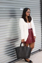 Forever 21 skirt - H&M blazer - Wet Seal necklace