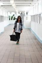floral print LC Lauren Conrad blazer - green Zara heels