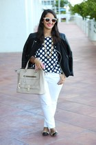 Forever 21 jacket - zeroUV sunglasses - H&M pants - coach flats