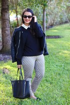 ann taylor bag - Forever 21 jacket - Forever 21 pants