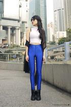 nike shoes - H&M scarf - American Apparel pants - American Apparel top