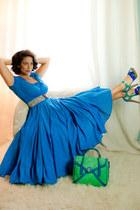 aquamarine satchel Guess bag - blue cotton Macys dress