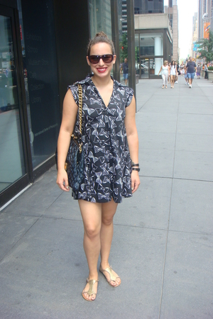 Rojas dress - Marc Jacobs purse - Chloe sunglasses - pink shoes