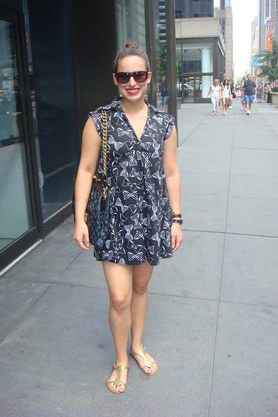 Rojas dress - Marc Jacobs purse - Chloe sunglasses - pink shoes