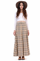 Lauren Plaid Belted Skirt